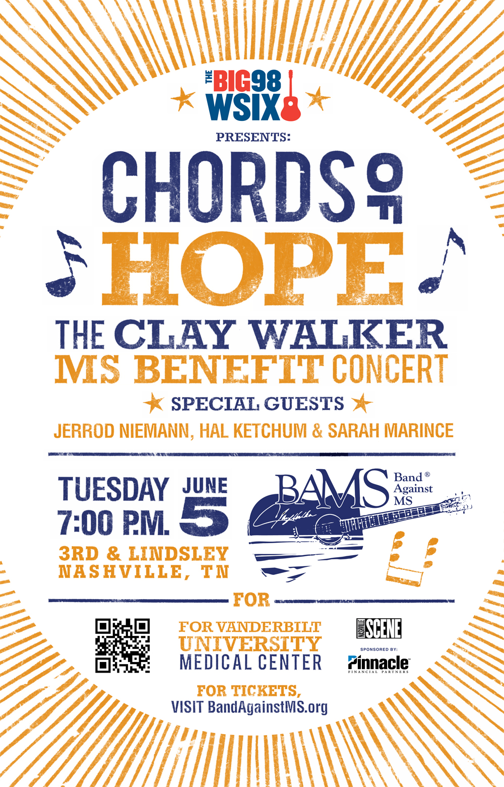 Band Against MS Chords of Hope Poster