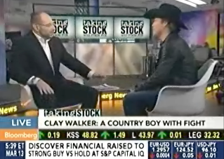 Clay Walker on BloombergTV